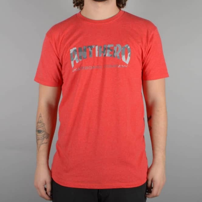 Antihero Skateboards Skate Co. Camo Slim Fit Skate T-Shirt - Red