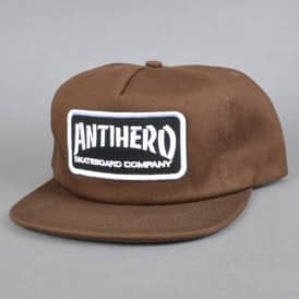Antihero Skateboards Skate Co. Patch Snapback Cap - Brown