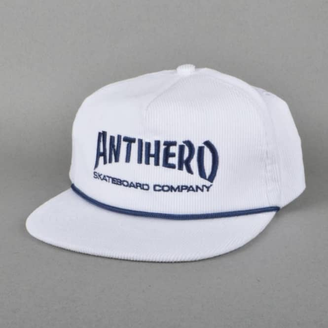 Antihero Skateboards Skate Co. Unstructured Snapback Cap - White