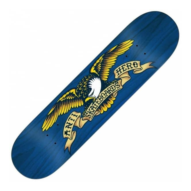Antihero Skateboards Stained Eagle Blue XL Skateboard Deck 8.5
