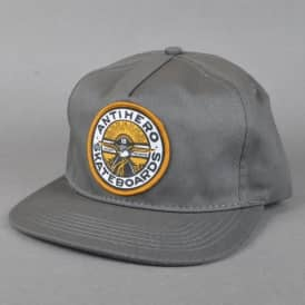 Antihero Skateboards Stay Ready Patch Snapback Cap - Charcoal