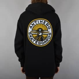 Antihero Skateboards Stay Ready Pullover Hoodie - Black