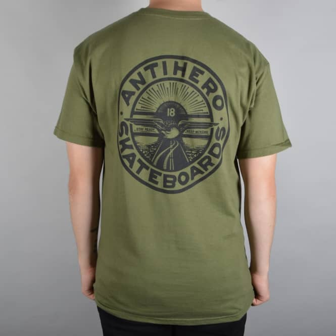 Antihero Skateboards Stay Ready Skate T-Shirt - Military Green