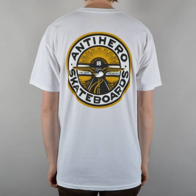 Antihero Skateboards Stay Ready Skate T-Shirt - White
