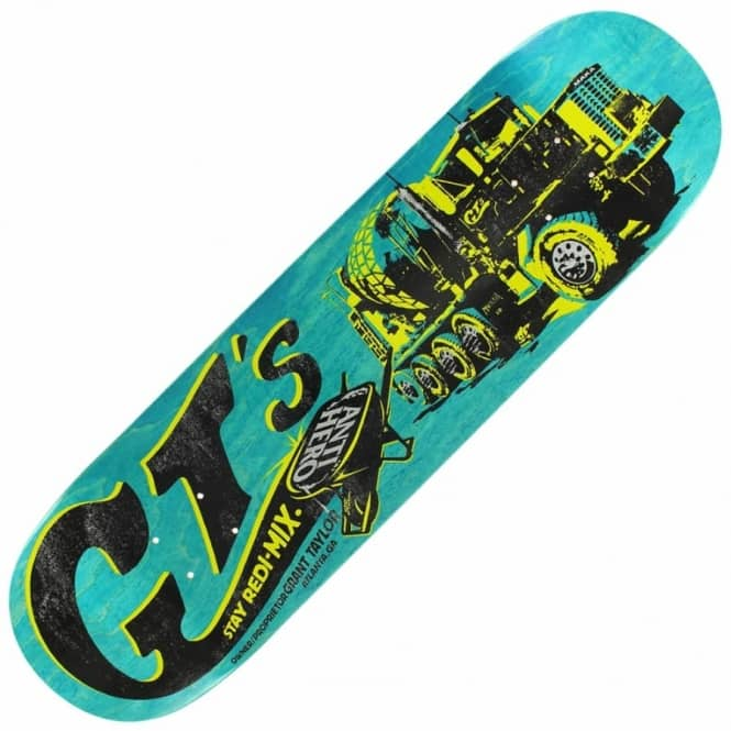 Antihero Skateboards Taylor GT's Stay Redi-Mix Skateboard Deck 8.43