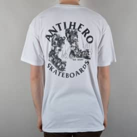 Antihero Skateboards We Stink Skate T-Shirt - White