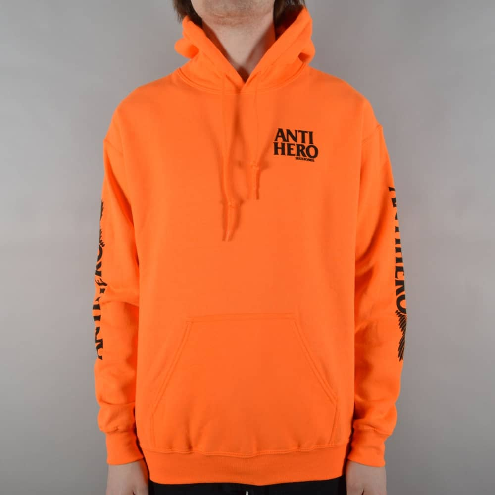 Antihero Skateboards Winghero Pullover Hoodie - Safety Orange ...