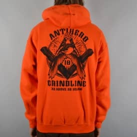 Antihero Skateboards x Grindline Pullover Hoodie - Safety Orange