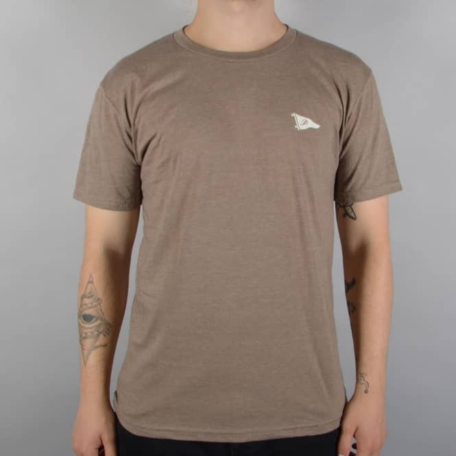 Primitive Skateboarding Arch Pennant Skate T-Shirt - Brown Heather
