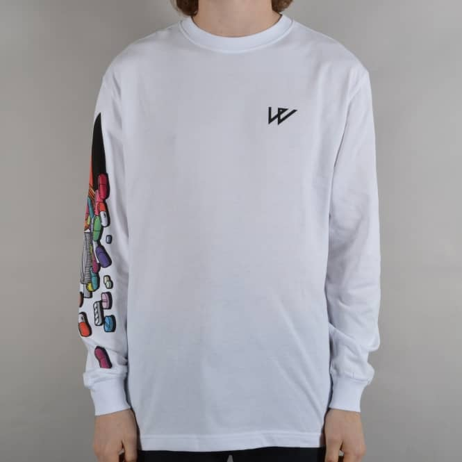 Wayward Skateboards Armacy Longsleeve T-Shirt - White