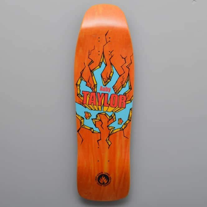 Black Label Skateboards Auby Taylor Breakout (Orange Stain) Skateboard Deck 9.5