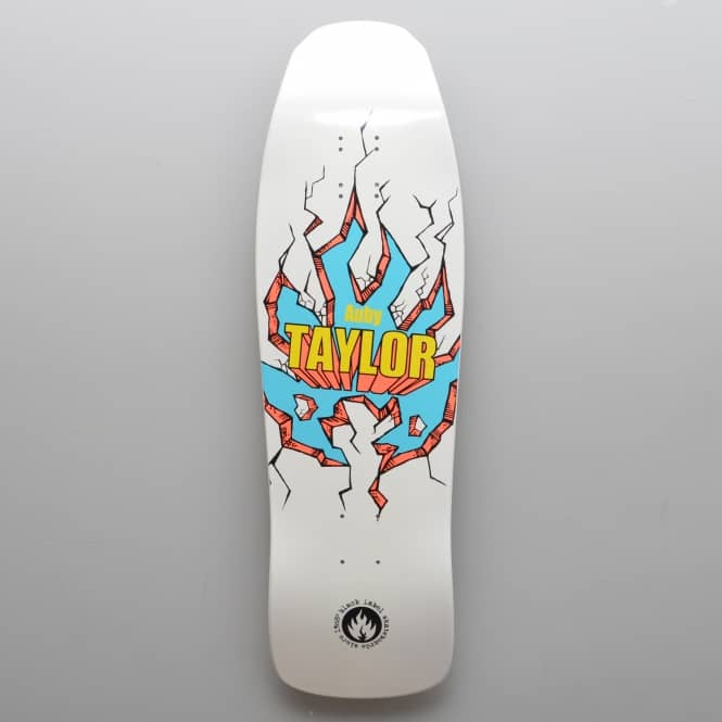 Black Label Skateboards Auby Taylor Breakout White Dip Skateboard Deck 9.5