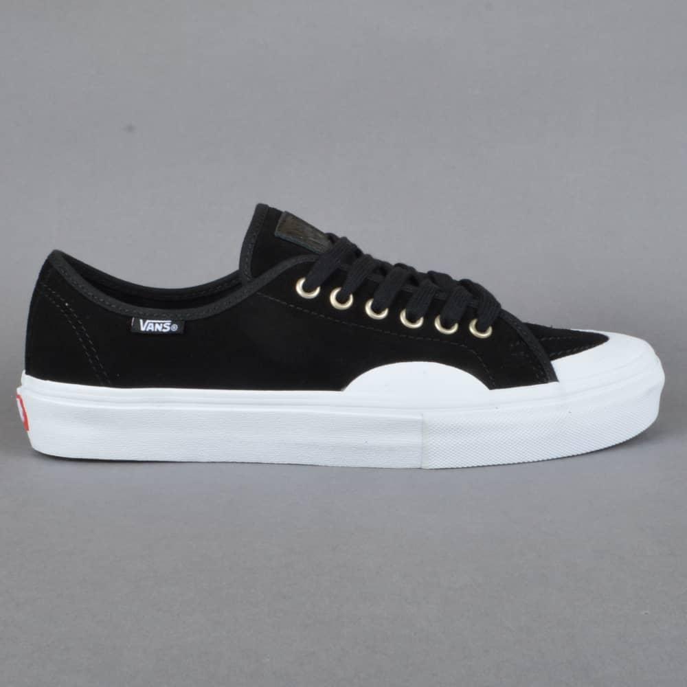 Vans AV Classic (Rubber) Skate Shoes - Black/White - SKATE ...