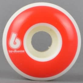B Logo Red Skateboard Wheels 53mm