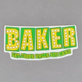 Bake Junt Skateboard Sticker - Green/Yellow