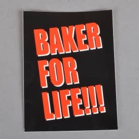 Baker For Life Skateboard Sticker - 4