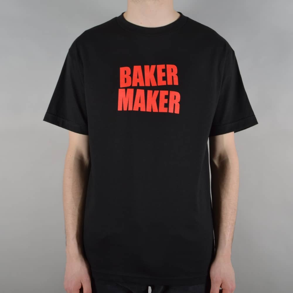 baker skateboards baker maker skate t shirt black