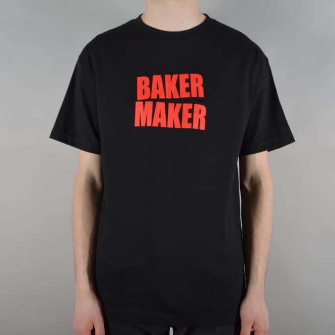 Baker Skateboards Baker Maker Skate T-Shirt - Black