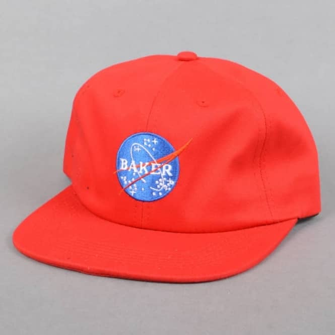 Baker Skateboards Apollo Unstructured Snapback Cap - Red