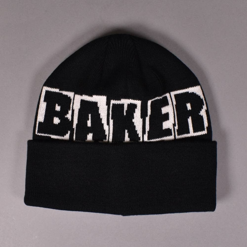 a8fc4b95 Baker Skateboards Big Brand Logo Beanie - Black - SKATE CLOTHING ...