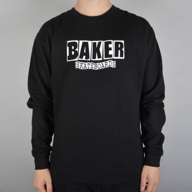 Baker Skateboards Brand Logo Crewneck Sweater - Black