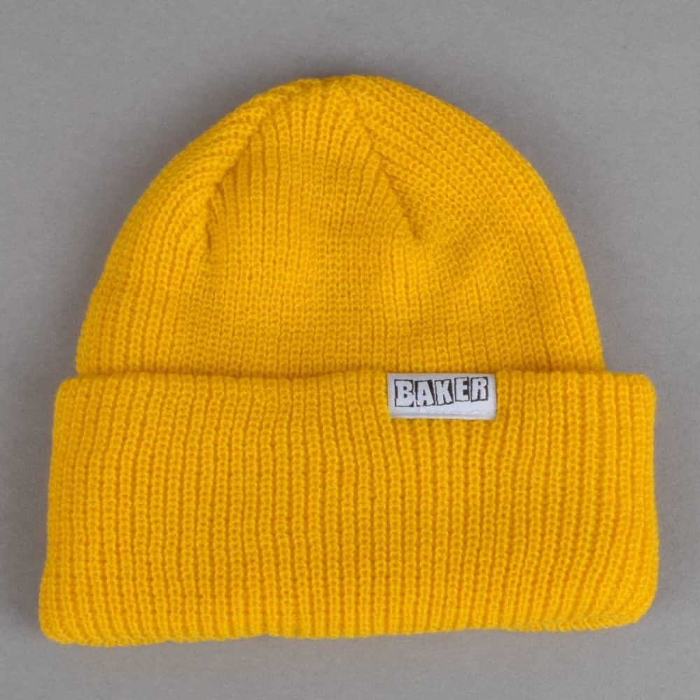 40589fc9bf5 Baker Skateboards Brand Logo Cuff Beanie - Gold - SKATE CLOTHING ...