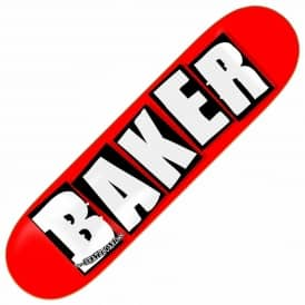 Baker Skateboards Brand Logo Red/White Skateboard Deck 7.5""
