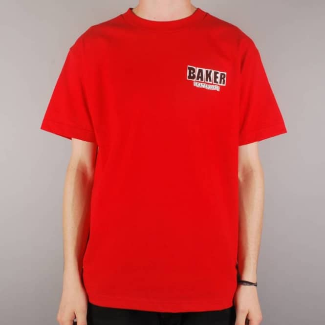 Baker Skateboards Brand Logo Skate T-Shirt - Red/Black