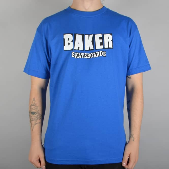 Baker Skateboards Brand Logo Skate T-Shirt - Royal Blue