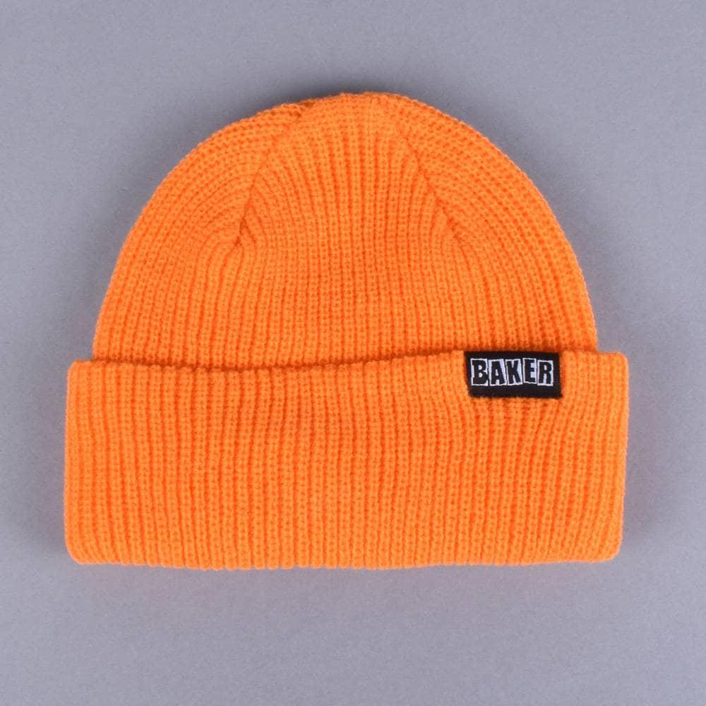 dd4bd788b8d Baker Skateboards Brand Name Beanie - Orange - SKATE CLOTHING from ...