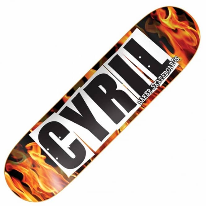 Baker Skateboards Cyril Logo Fire Skateboard Deck 8.25''