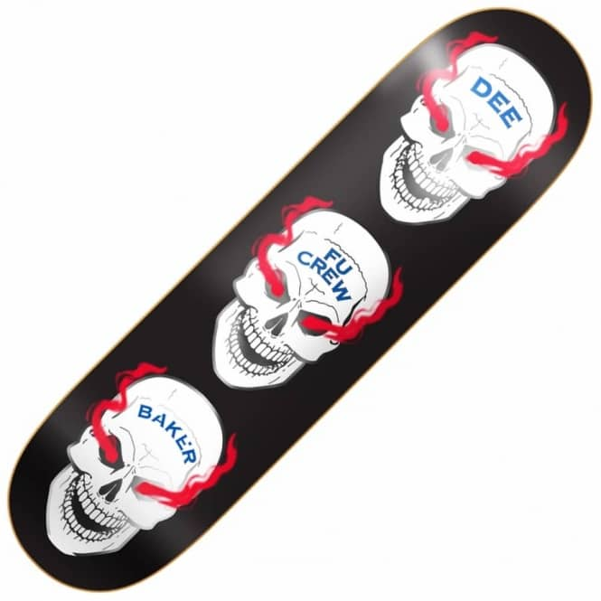 Baker Skateboards Dee Blood Shot Skateboard Deck 8.475