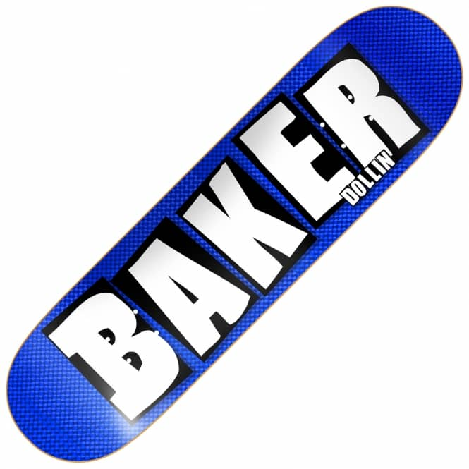 Baker Skateboards Dollin Brand Name Hologram Skateboard Deck 8.0