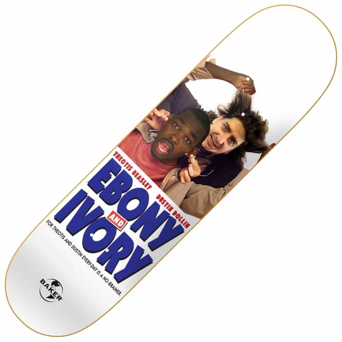 Baker Skateboards Ebony And Ivory Skateboard Deck 8.25