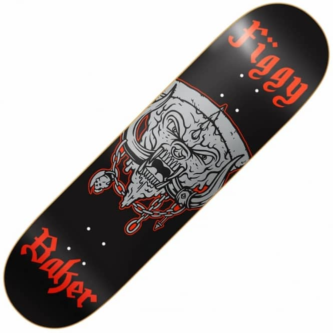 Baker Skateboards Figgy Pizza Head Skateboard Deck 8.0