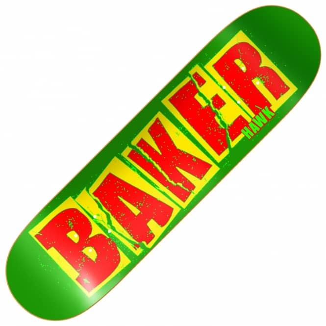 Baker Skateboards Hawk Brand Name Tear Skateboard Deck 7.75