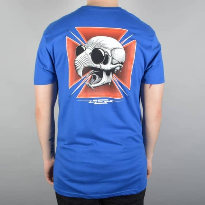 Baker Skateboards Hawk Tribute Skate T-Shirt - Royal Blue