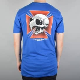 Hawk Tribute Skate T-Shirt - Royal Blue