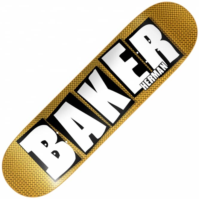 Baker Skateboards Herman Brand Name Hologram Skateboard Deck 8.475