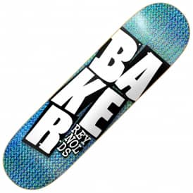 Baker Skateboards Reynolds Stacked Names Holographic Foil Skateboard Deck 8.5""