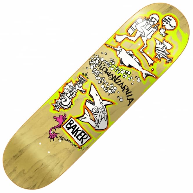Baker Skateboards Rowan Gonz Natural Veneer Skateboard Deck 8.0