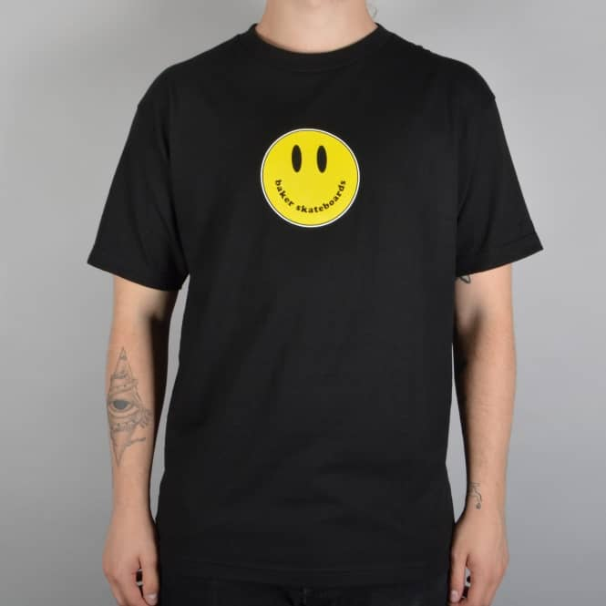 Baker Skateboards Smiley Skate T-Shirt - Black