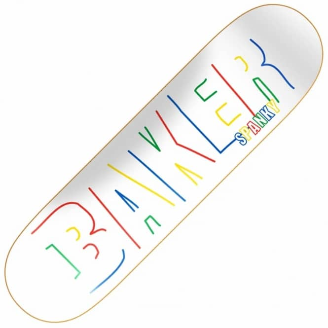 Baker Skateboards Spanky Brand Name Childs Play Skateboard Deck 8.125