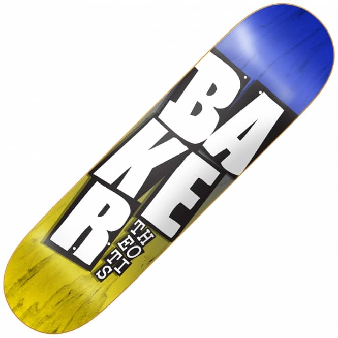 Baker Skateboards Theotis Stacked Blue/Yellow Skateboard Deck 8.38