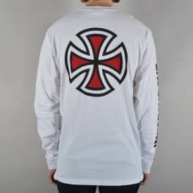 Bar Cross Longsleeve T-Shirt - White