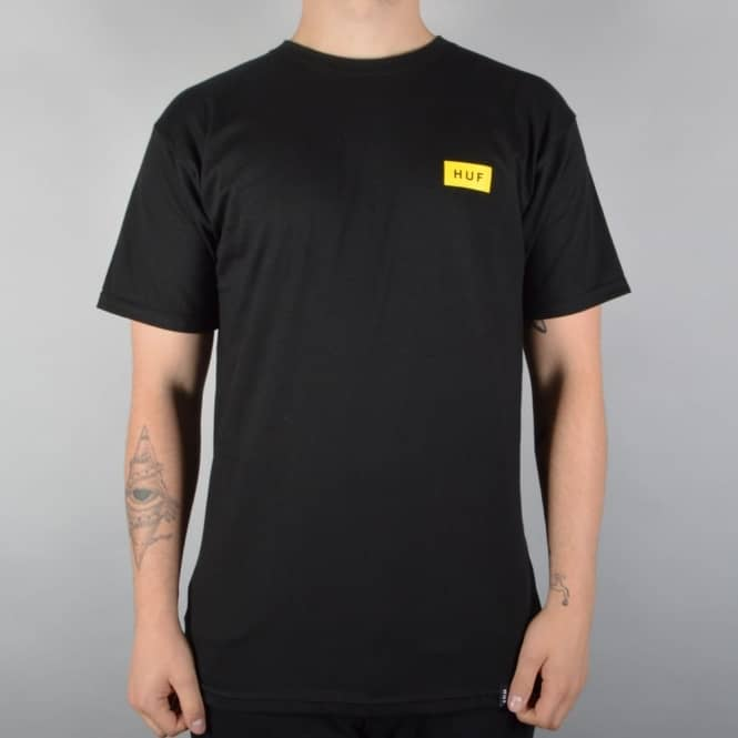 HUF Bar Logo T-Shirt - Black