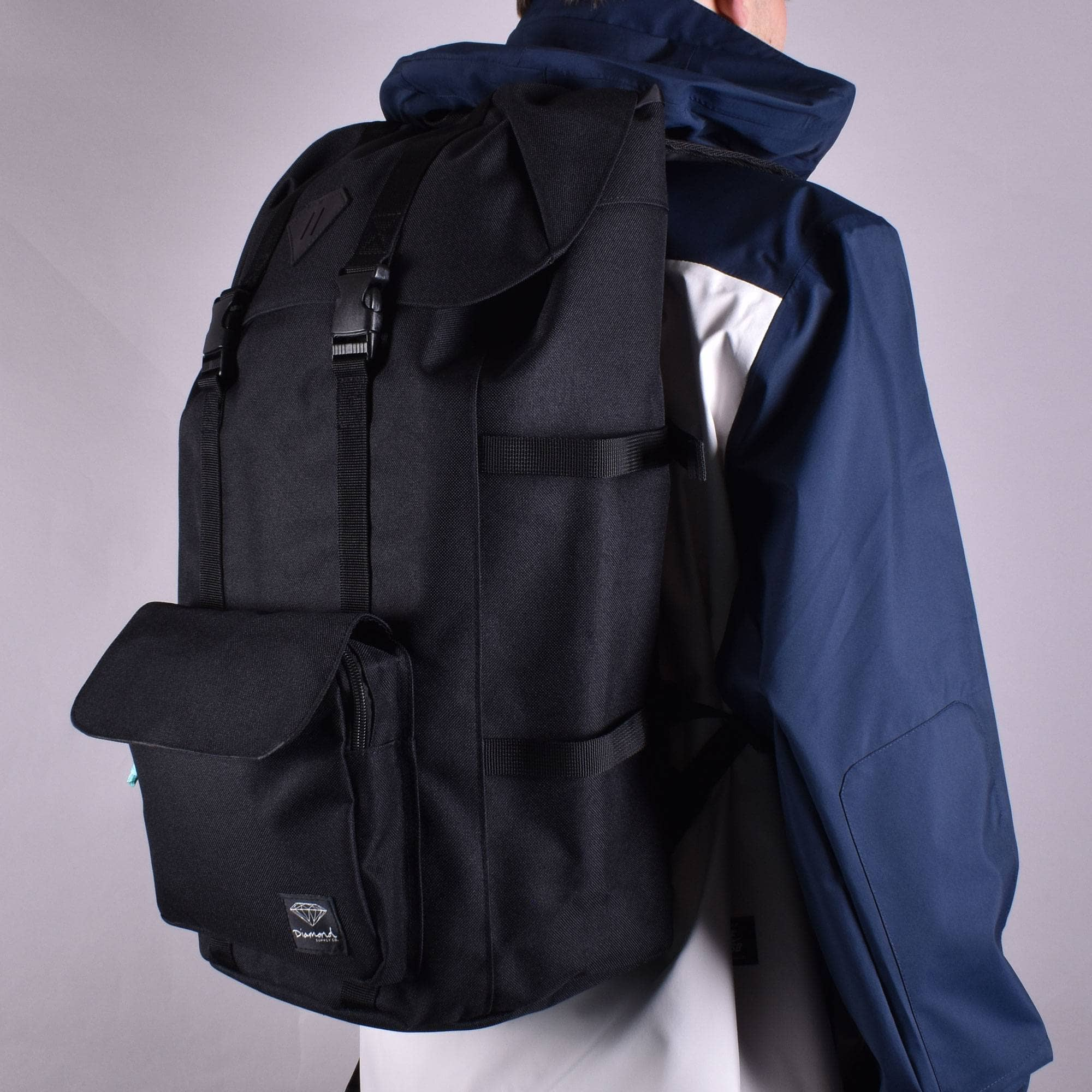 Life Black mens laptop pad backpack bag BACK TO SCHOOL Diamond supply co