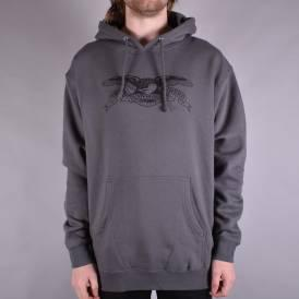 Basic Eagle Pullover Hoodie - Charcoal/Black