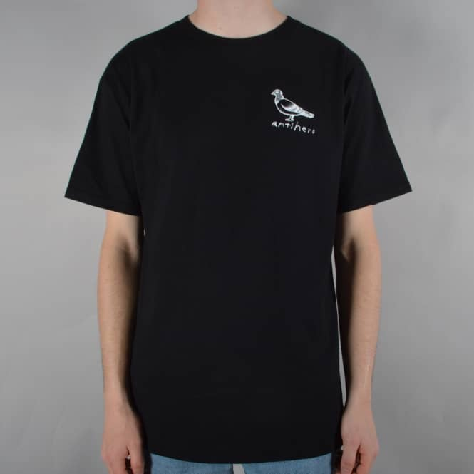 Antihero Skateboards Basic Pigeon Skate T-Shirt - Black