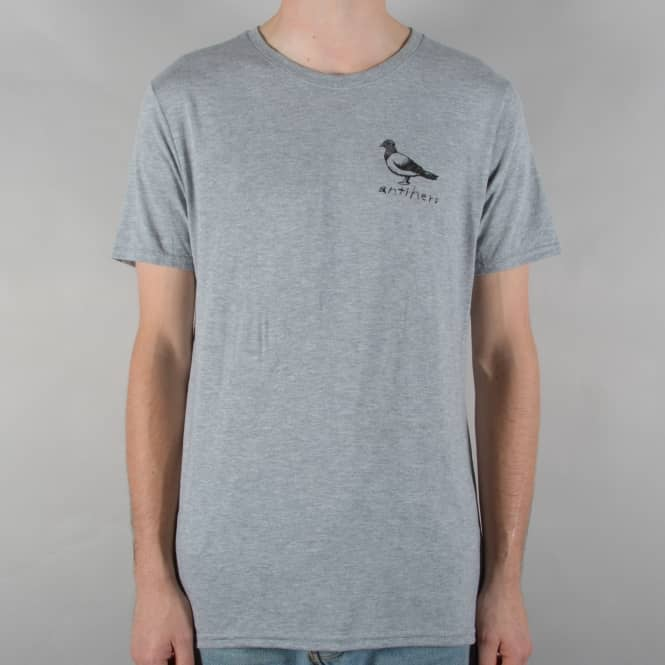 Antihero Skateboards Basic Pigeon Skate T-Shirt - Heather Grey